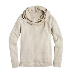 J Crew Heathered Oatmeal Funnel Neck Sweater S